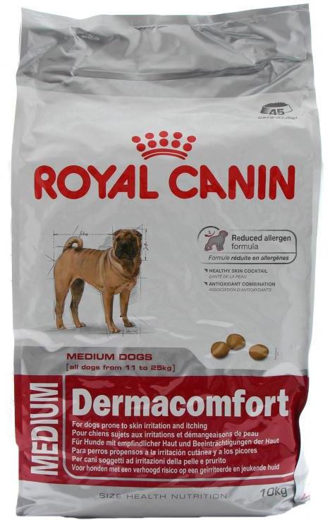 Корм royal canin dermacomfort 24 medium