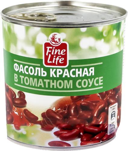 Салаты с красной фасолью в томатном соусеы